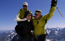 Gabby Giffords climbs the French Alps