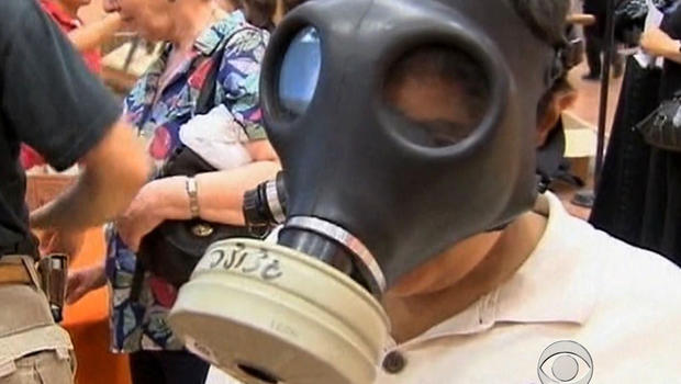 israel, gas mask
