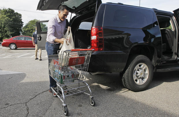 Romney goes to the market