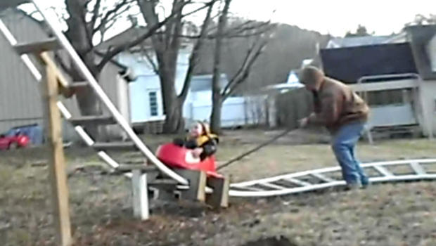 Dad builds a backyard roller coaster for his daughter ...