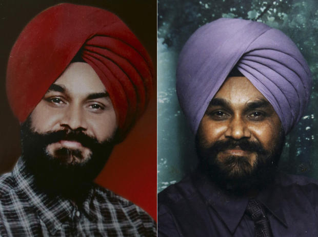 Indian Ranjit Singh, right, and Sita Singh were killed in the shooting attack at a Sikh temple in Wisconsin.