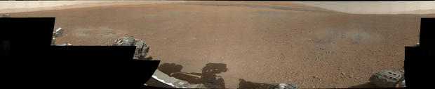 The first 360-degree color panorama taken on Mars by NASA's Curiosity rover, released Aug. 9, 2012.