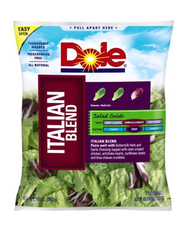 Dole Italian Blend Salads Recalled After Positive Listeria