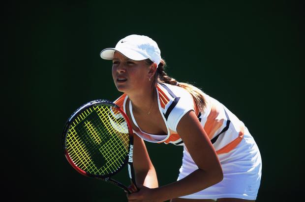 Maria Sharapova in action during the Australian Open