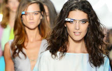 Models sport Google Glass on runway