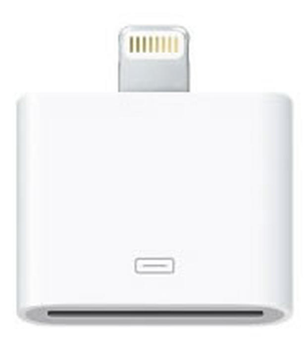 Apple's Lightning to 30-pin adapter.