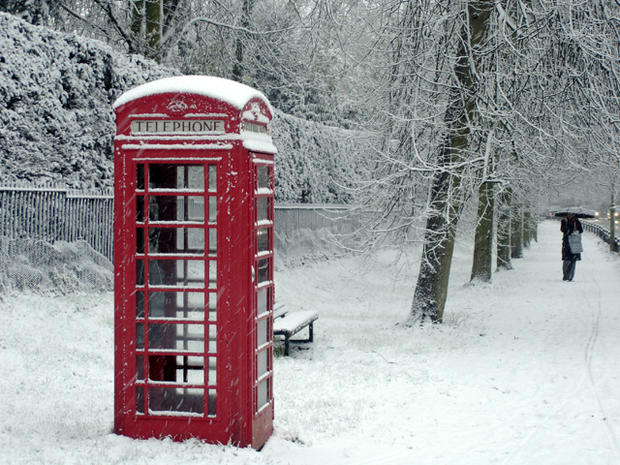 A telephone booth is seen on Feb. 8, 2007, in Cambridge, England.