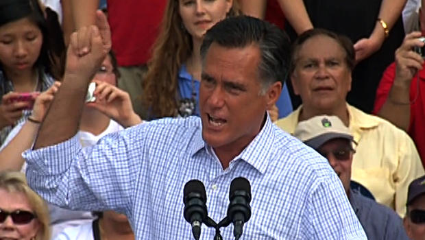 "Romney takes on Obama and ""change"""