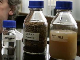 Pot ale, draff and butanol
