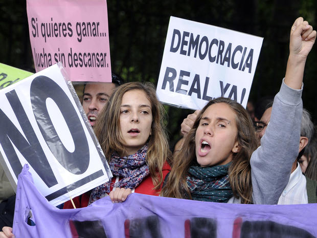 Young women take part in a demonstration