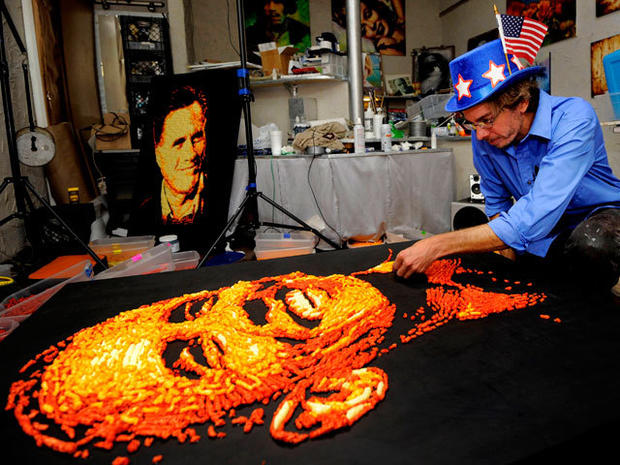 Obama, Romney in Cheetos