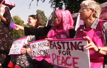 Americans against drone strikes protest in Pakistan