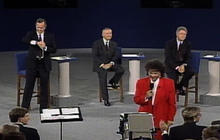 Famous debate moment: Bush, Sr. checks his watch in 1992