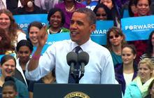 "Obama warns of ""Romnesia"" symptoms"
