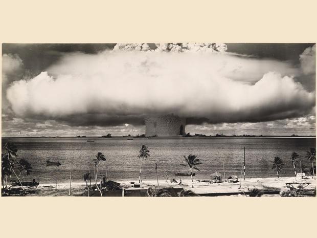 An underwater atomic bomb test at Bikini Atoll in  1946, Bikini Atoll, Marshall Islands, Micronesia