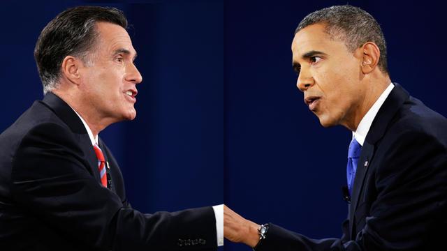 President Barack Obama speaks during the third presidential debate with Republican presidential nominee Mitt Romney at Lynn University, Monday, Oct. 22, 2012, in Boca Raton, Fla.