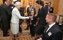 Queen Elizabeth holds reception for Olympians