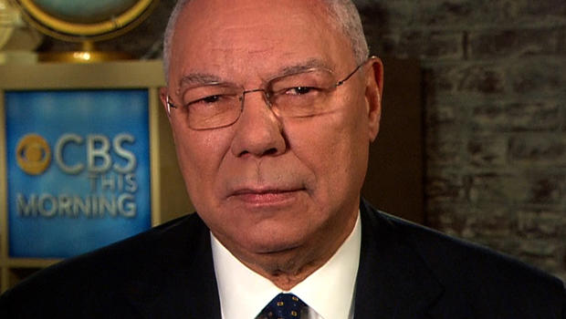 "Colin Powell on ""CBS This Morning."""