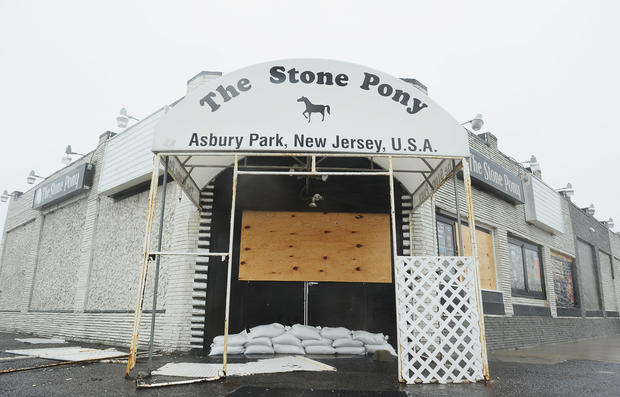 Superstorm slams Jersey Shore
