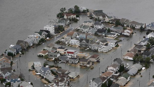 Aerial views of superstorm damage