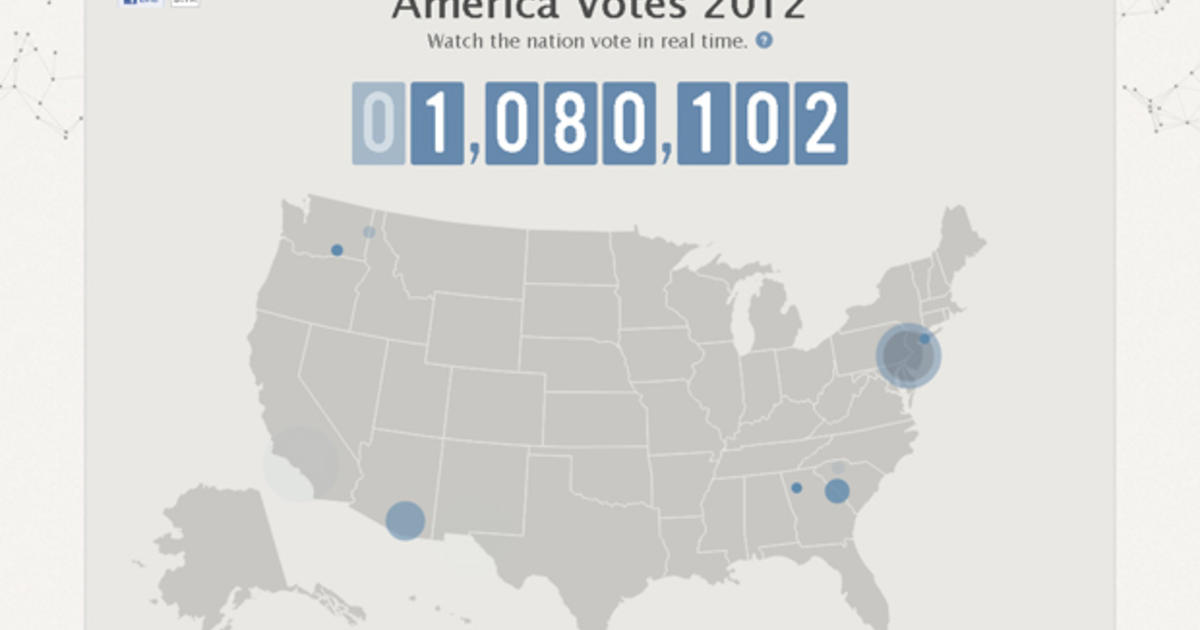 Facebook Launches Real Time Visualization Of 2012 U S Election Voters Cbs News