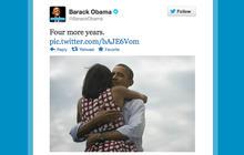 Behind Obama's record-breaking tweet