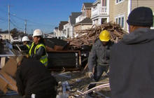 Some Sandy victims flee nor'easter