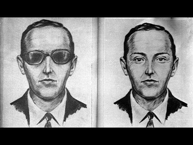 This is an artist's sketch of the skyjacker known as 'Dan Cooper' and 'D.B. Cooper', from the recollections of passengers and crew of a Northwest Orient Airlines jet he hijacked between Portland and Seattle, Nov. 24, 1971, Thanksgiving eve. 'Cooper' later