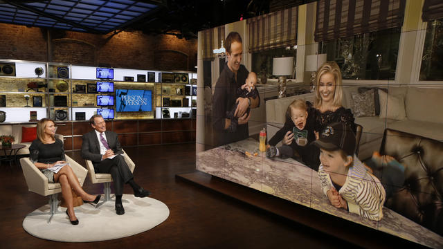 Lara Logan, Charlie Rose, Drew, Callen, Bowen, Brittany and Baylen Brees
