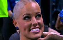 NFL cheerleaders shave heads for charity