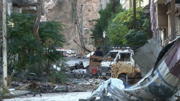Destruction in Baba Amr, a neighborhood in Homs.