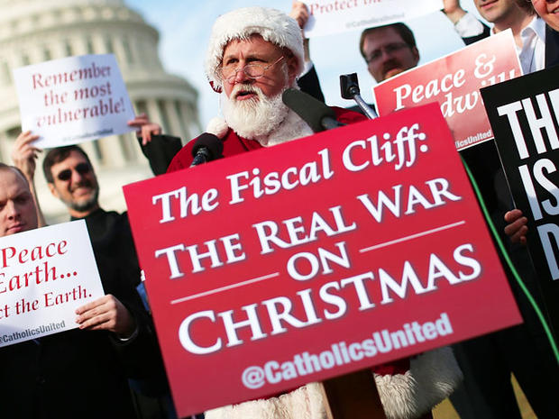 "Santa urges Republicans to pass ""fiscal cliff"""