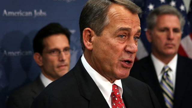 "Boehner unveils ""Plan B"" to ""fiscal cliff"" negotiations"