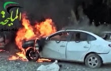 Syrian warplanes bomb Damascus gas station