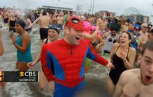 New Yorkers take icy dip for Sandy charity