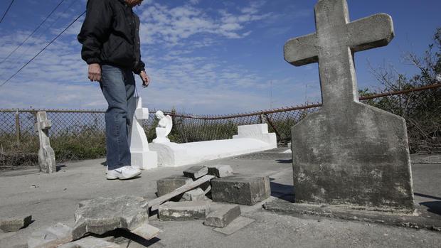 Sinking cemeteries in Louisiana