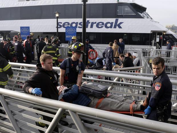 Ferry strikes NYC dock