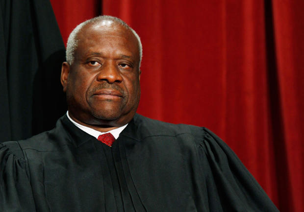 Supreme Court: Clarence Thomas speaks during argument for first time since 2016 - CBS News