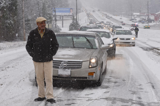 Winter storm hits the South