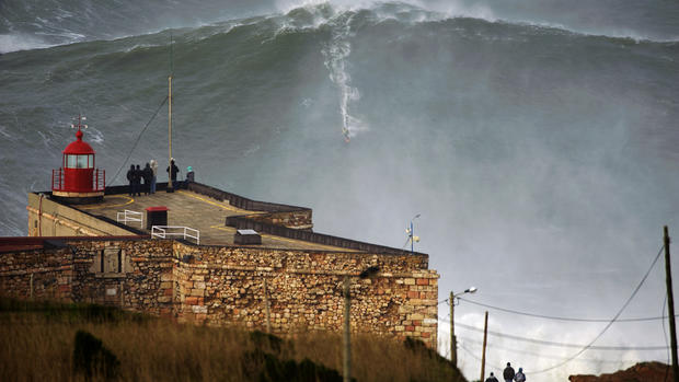 Garrett McNamara surfs possible 100-foot wave