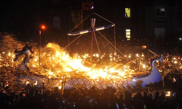 Viking Festival in the Shetland Islands