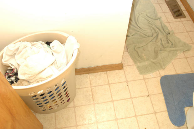 Brian Pennington gave police permission to look at the clothes in his hamper.