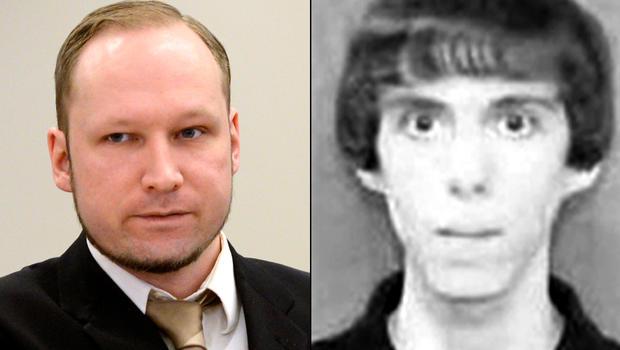 Anders Breivik (right), Adam Lanza (left)