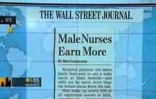 Headlines at 8:30; Male nurses make more money
