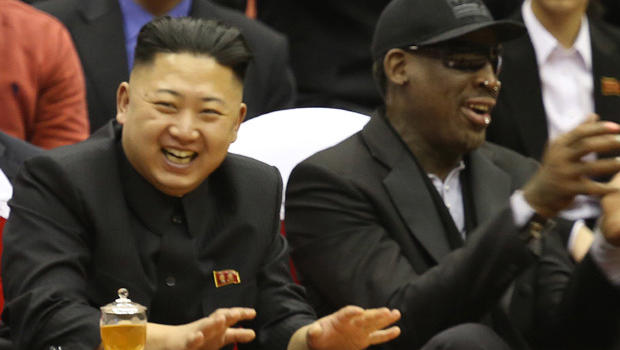 Kim Jong-Un with NBA-star Dennis Rodman