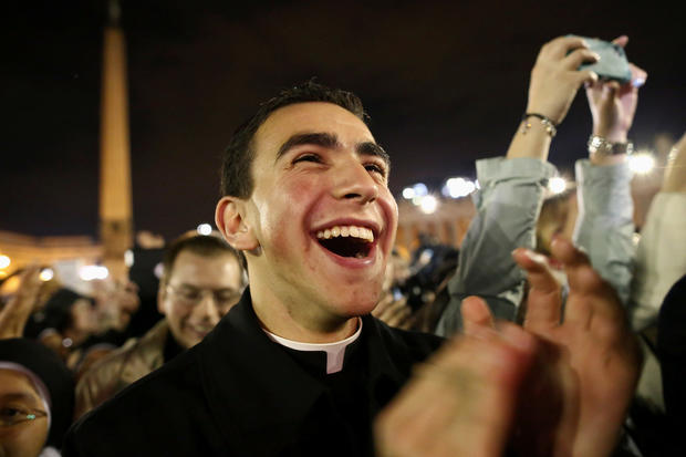 Faithful rejoice over new pope