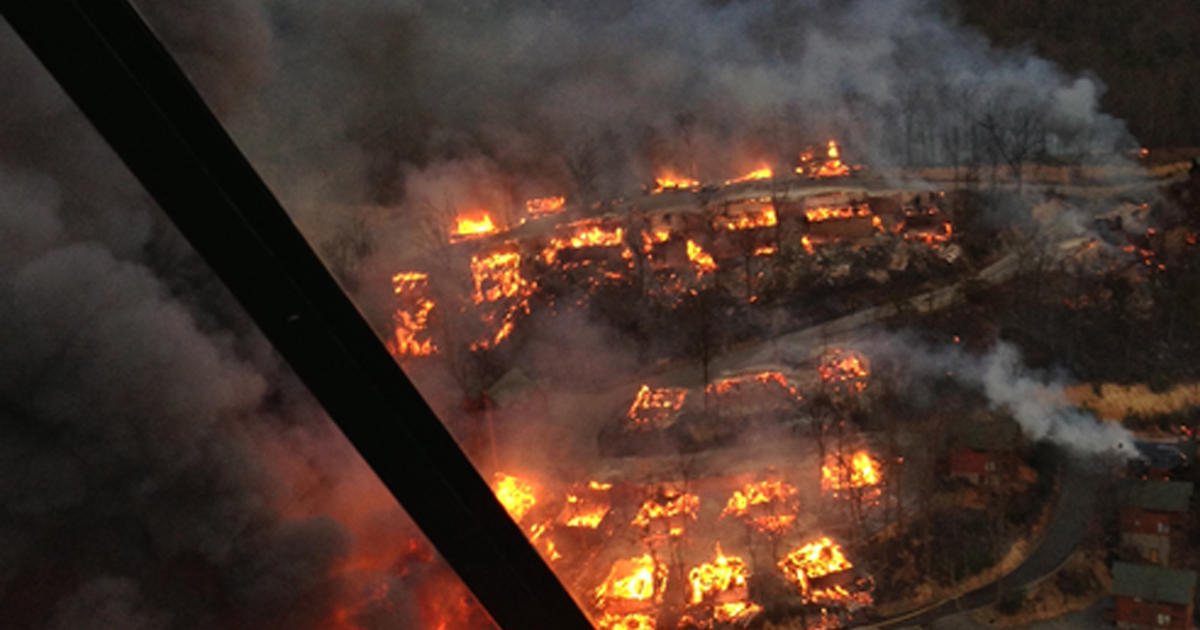 More Than 30 Cabins Torched By Tennessee Wildfire Cbs News