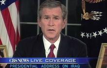 2003: President Bush announces invasion of Iraq