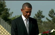 Obama visits Theodor Herzl's grave