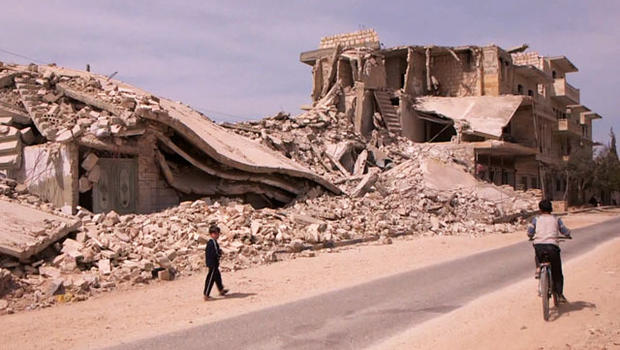 Maarat Nouman, a town in northern Syria, is a civilian area that is randomly targeted by government forces.